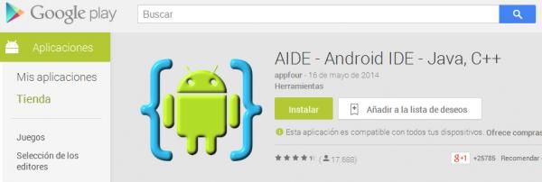 AIDE en Google Play