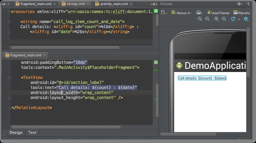Interfaz Android Studio