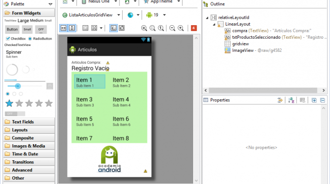 Aplicacion Android Con UI Grid View