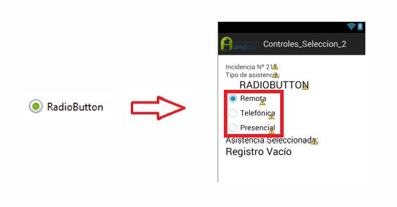 Ejemplo control RadioButton en App Android