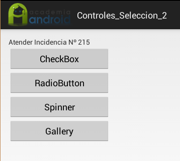 Main Activity en la App Android de incidencias