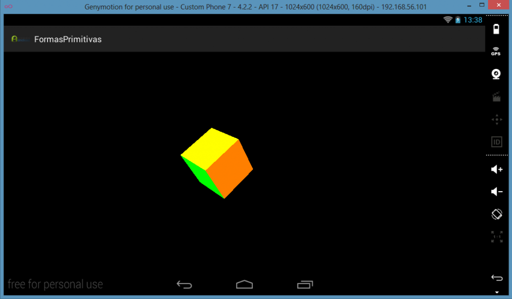 Cubo creado con OpenGL