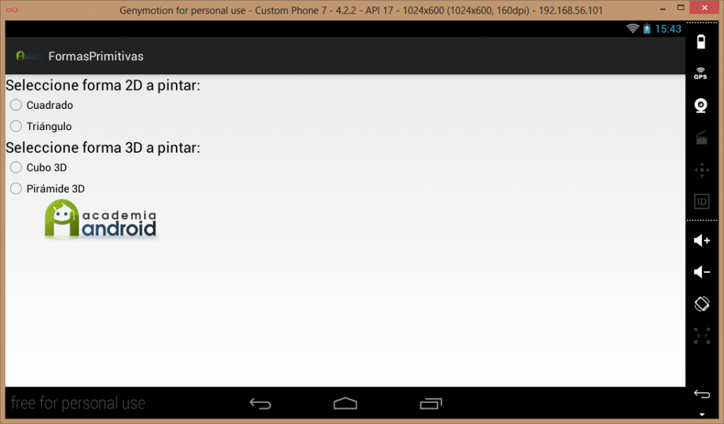 UI App Android pintar gráficos