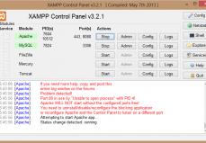Arranque De Apache Y MySQL En XAMPP