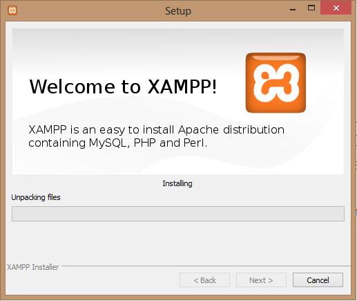 Inicio instalación XAMPP