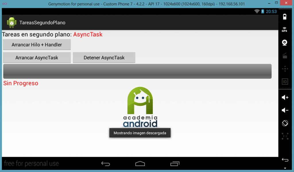 Descarga completada con clase AsynTask