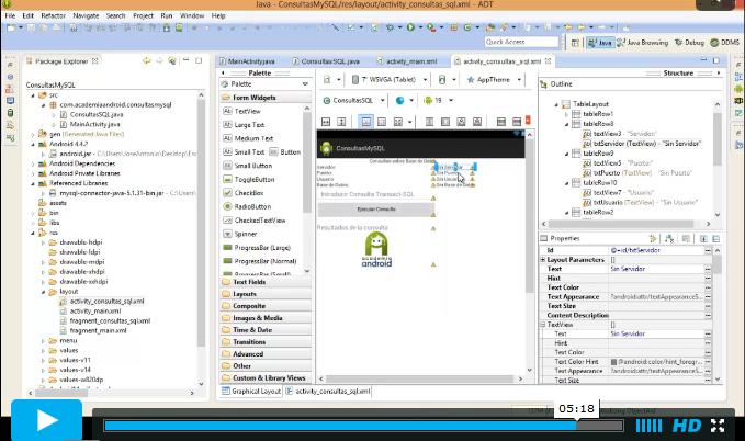 Video Conexion Remota Android A MySQL