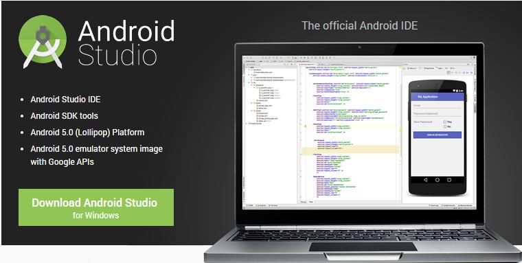 Pagina descarga Android Studio