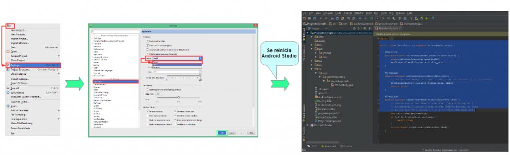 Cambio apariencia en interfaz Android Studio
