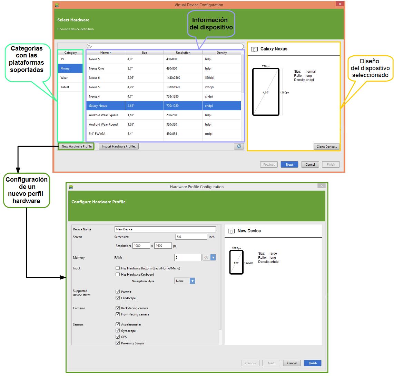 Configurar Virtual Device