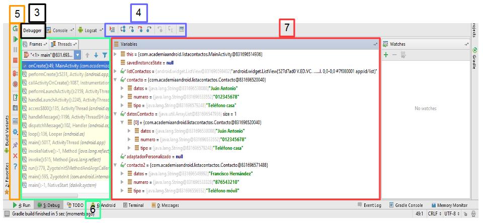Debugger en Android Studio