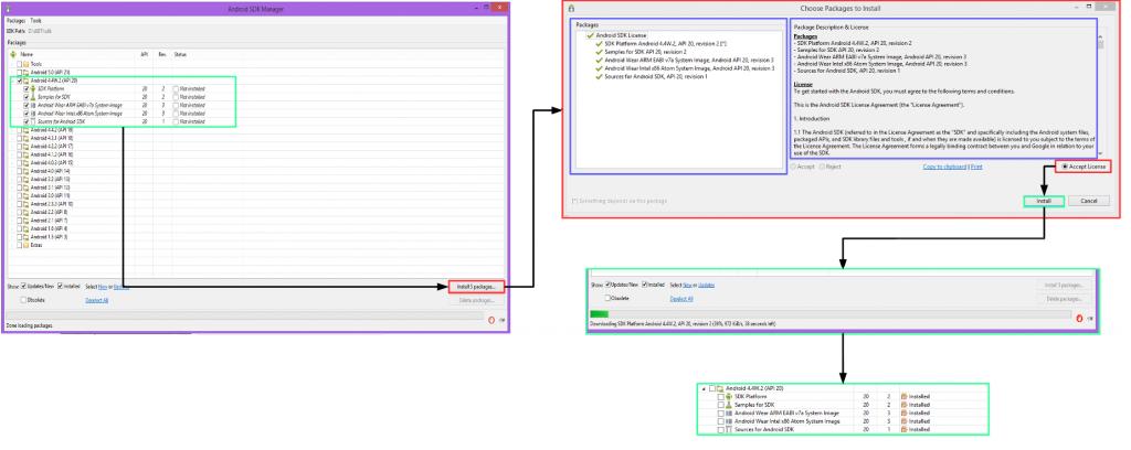 Instalar Actualizar SDK Manager
