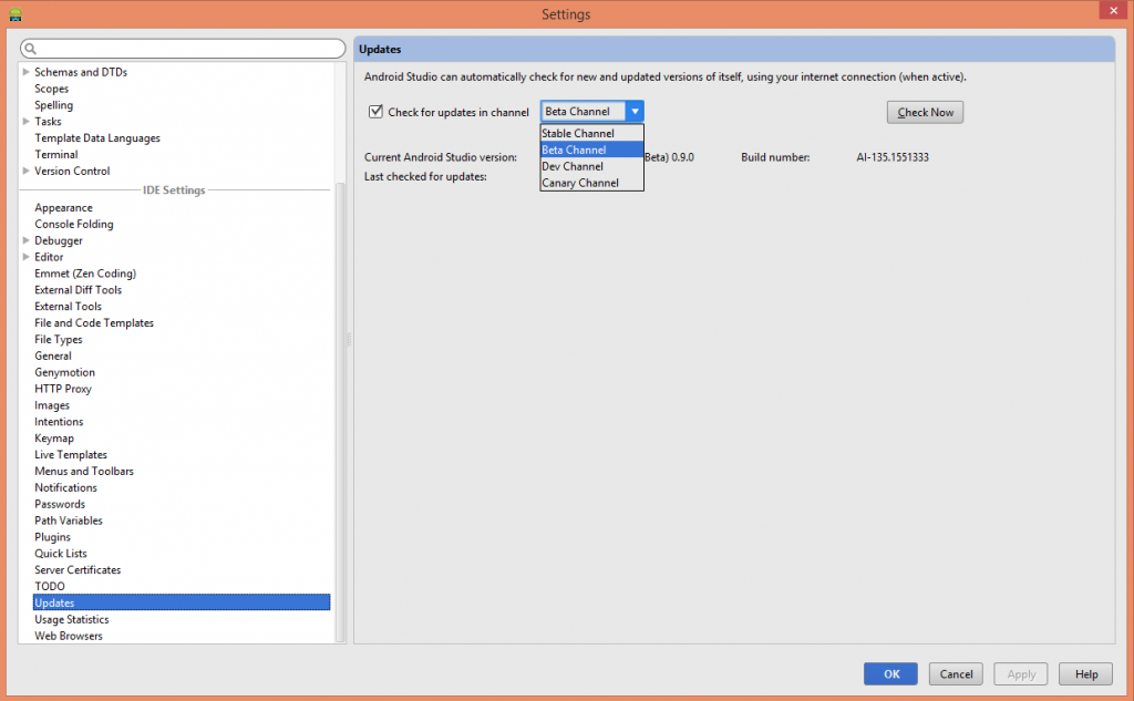 Updates Android Studio