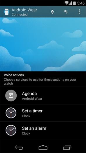 Pantalla de Android Wear App