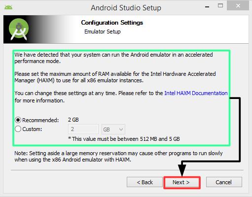 Pantalla 5 instalación Android Studio