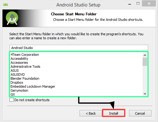 Pantalla 6 instalación Android Studio