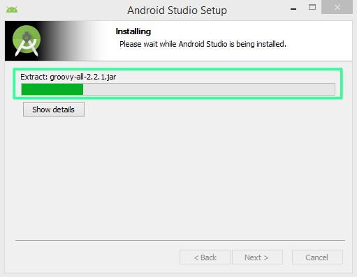 Pantalla 7 instalación Android Studio