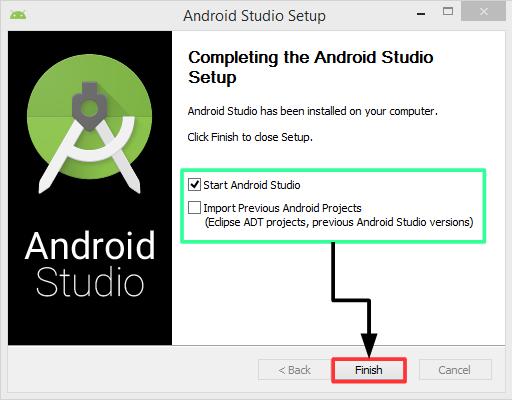 Pantalla 9 instalación Android Studio