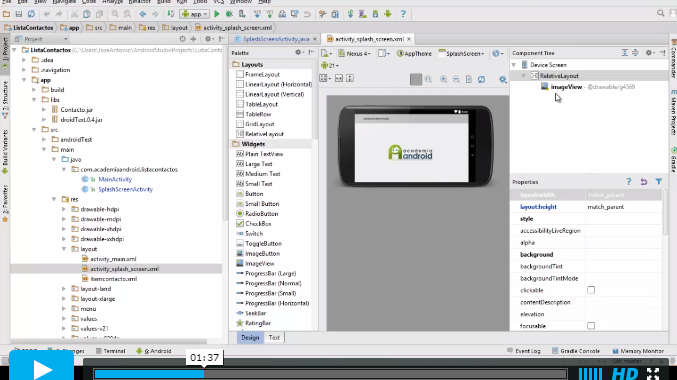 Video Android Studio Lista Contactos