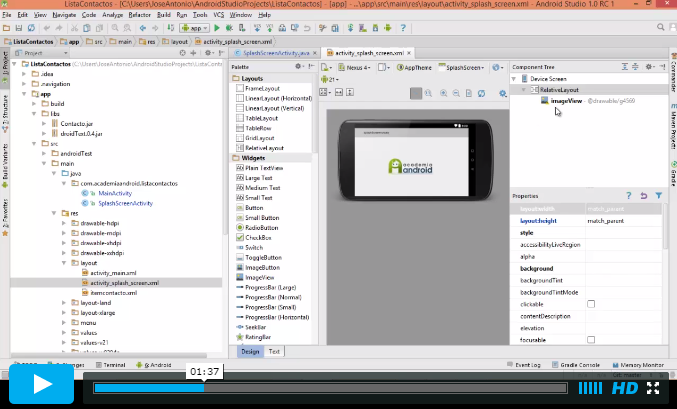 Video Android Studio Lista Contactos