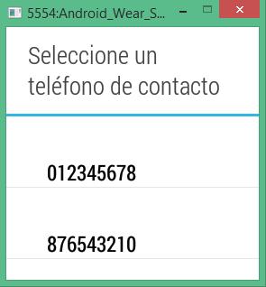Pantalla cuadrada seleccionar teléfono