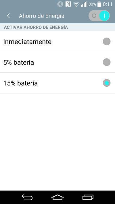 Ahorro Energia (Android 5.0)
