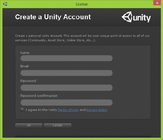 Creacion Cuenta Unity
