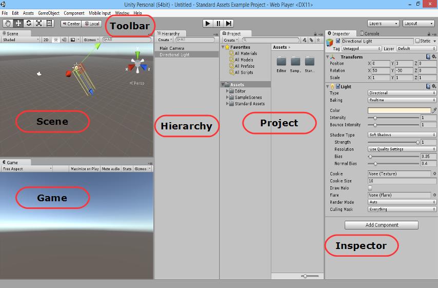 Interfaz Editor Unity 5