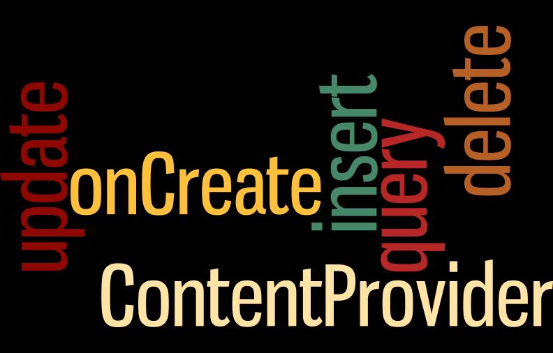 Métodos ContentProvider