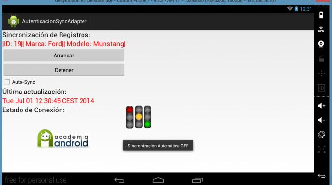 Pantalla De La App: último Registro Insertado