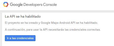 API habilitada