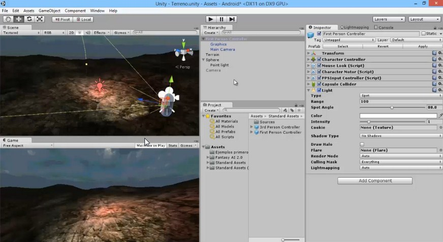 Video Implementar Dos Camaras En Unity3D