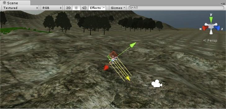 Vista de Directional Light en Unity 3D