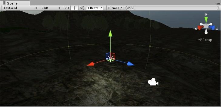 Vista de Point Light en Unity 3D