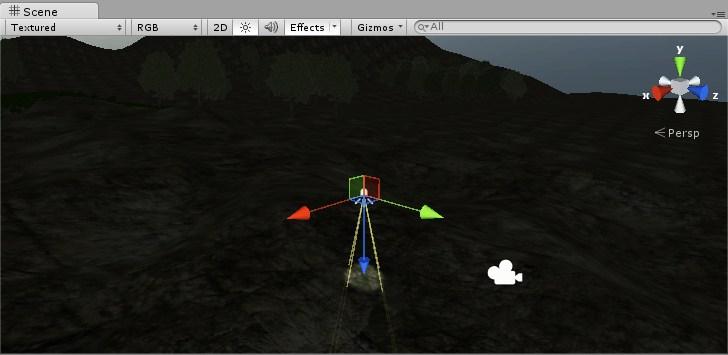 Vista de Spot Light en Unity 3D