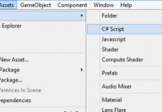 Editor Unity: Crear Script C#