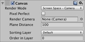 Canvas Screen Space Camera