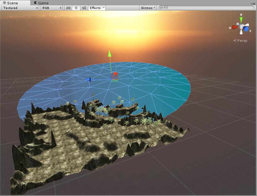 Escenario donde videojuego incluimos sonido agua