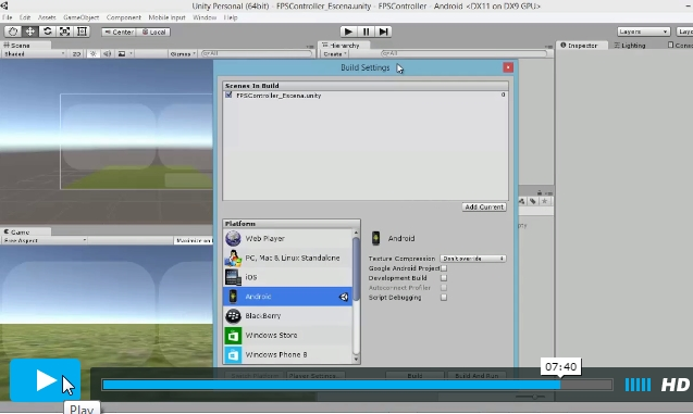 Video Ejemplo FP Chracter Y Canvas Unity 3D