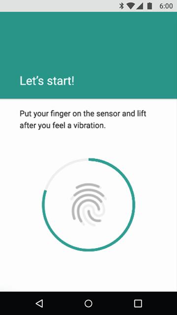Android 6.0: acceso huella dactilar