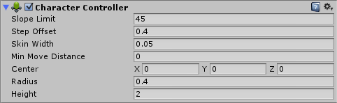 Character Controller Inspector