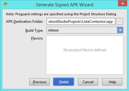 Pantalla Key Store APK Folder