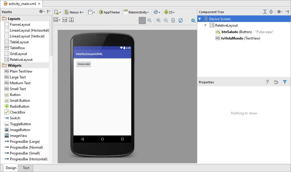 Interfaz Usuario XML