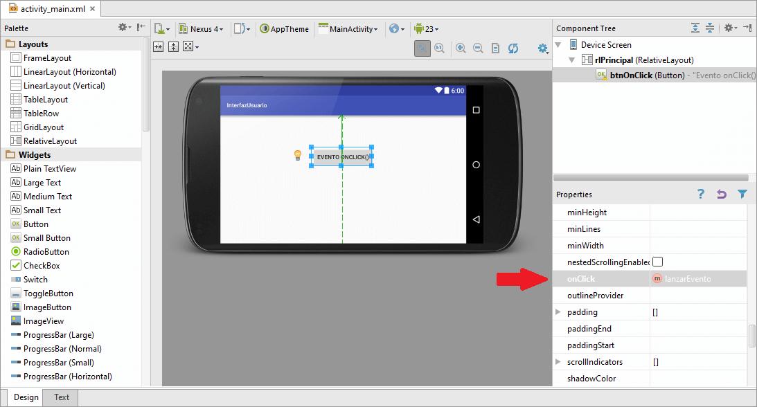 Implementación Botón Con Evento OnClick