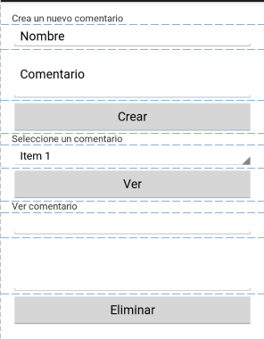 Interfaz App Base De Datos SQLite