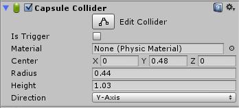 Inspector capsule collider