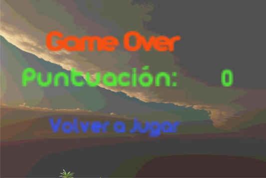 Pantalla Game Over
