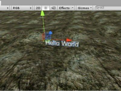 GUI Texture y GUI Text: ejemplo implementación en videojuego