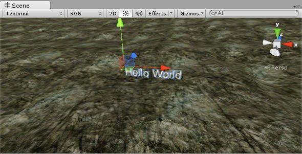 Scene 3D Text