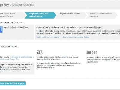 Google Play: crear una cuenta de desarrollador